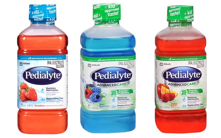 Strawberry, Blue Raspberry, and Cherry Punch Pedialyte